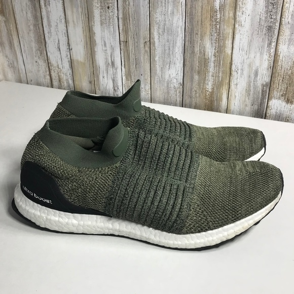 e80214abffbd5 adidas Other - Adidas UltraBOOST Laceless Olive White Shoes (12)